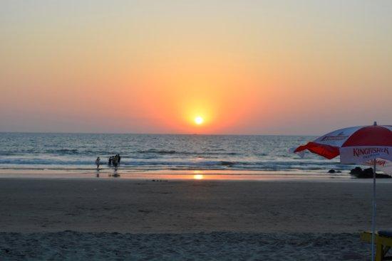 Ashvem Beach, India: Sunset at Ashwem Beach