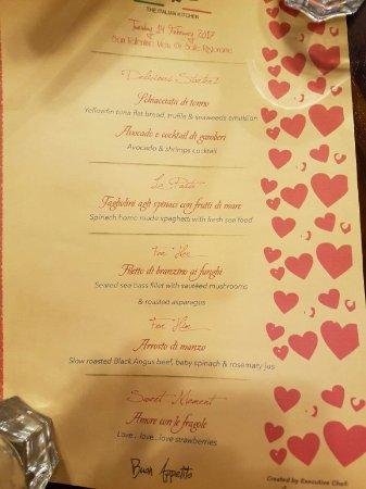 Valentine S Day Dinner Menu Picture Of Sale Italian Ristorante