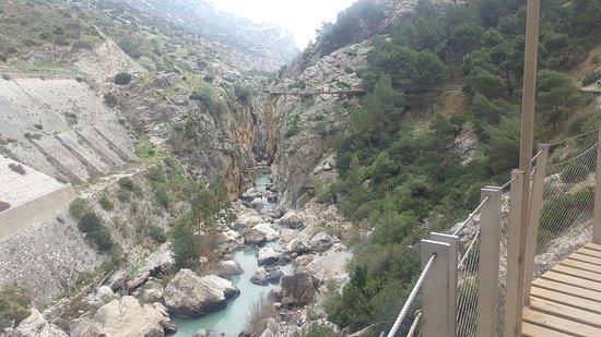 El Chorro, Hiszpania: disfrutando por las pasarelas
