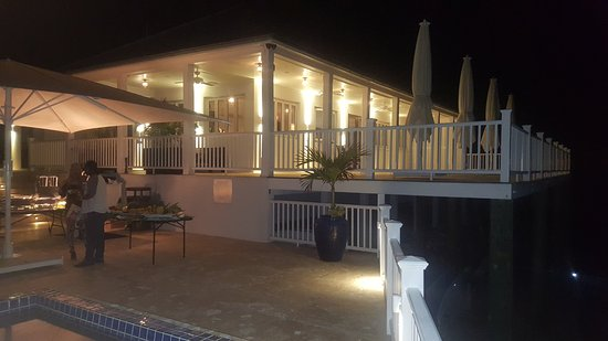Governor's Harbour, Eleuthera: View of restaurant