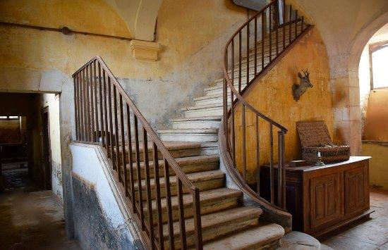 Château de Vaux : Vue des caves dans l'escalier d'honneur