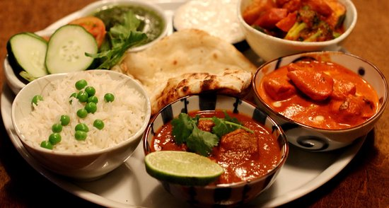 Market Drayton, UK: The best Thali Dish and it looks beautiful