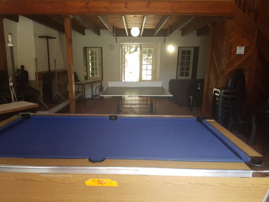 The Baths: Pool table and table tennis