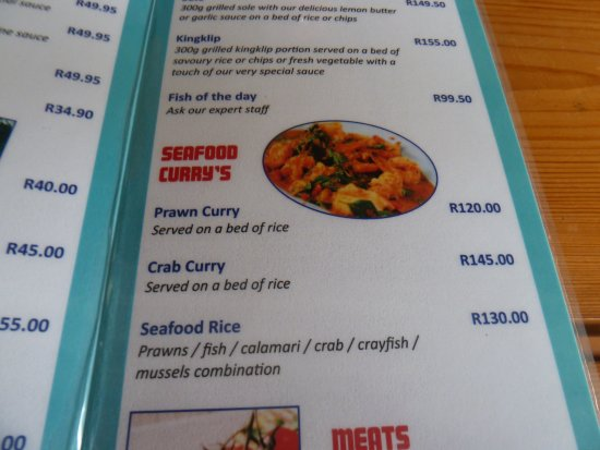 Southbroom, Güney Afrika: The menu