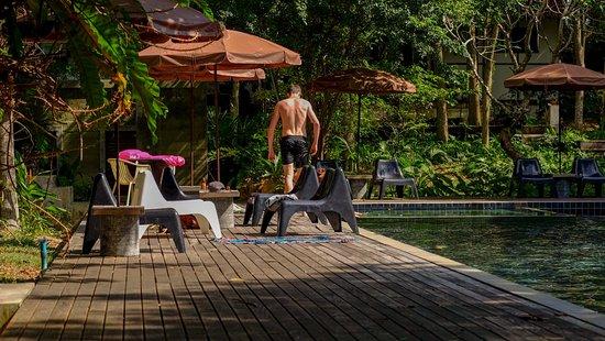 Bophut, Thailand: A handsome couple enjoy the water.