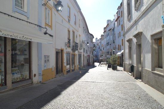 Evora District, Portugal: Again the street.