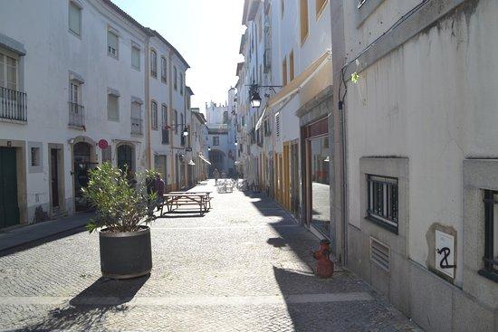 Evora District, Portugal: The street.