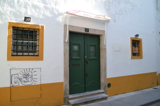 Evora District, Portugal: The gate of the restaurant.