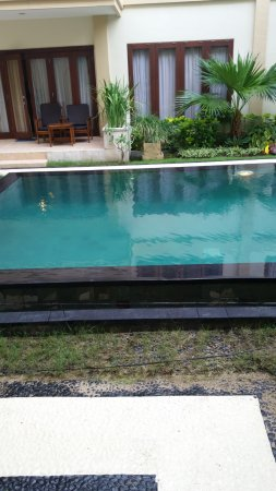 Kuta Town House Apartments: View of lap pool from ground floor door