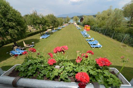 Faak am See, Austria: Strandhotel Faak Liegewiese