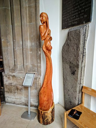 Chelmsford, UK: Motherhood; carved wooden sculptures by the Iranian Christian sculptor Saloomeh Asgary