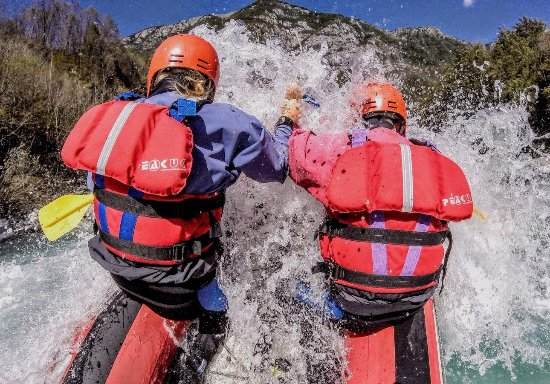 Bovec, Slovenia: Full rafting action photo