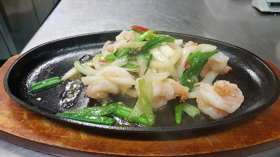 Darwen, UK: sizzling king prawn with salt and pepper