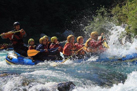 Bovec, Slovenia: Rafting on Soča river