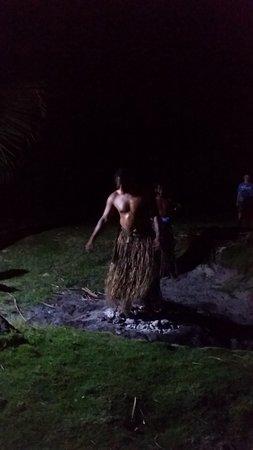 Viti Levu, Fiji: walking over burning coal