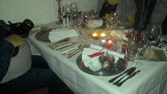 Zevenbergen, Holandia: décoration de la table