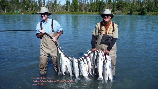 Sterling, AK: Great fishing with Kenai Cowboys.