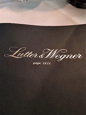 Lutter und Wegner: carta menu