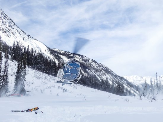 Rk Heliski: Out and about - heli skiing