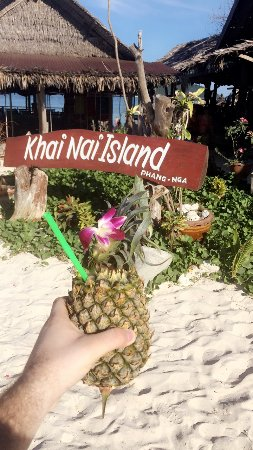 Provinz Phang Nga, Thailand: Fresh Pineapple Juice!