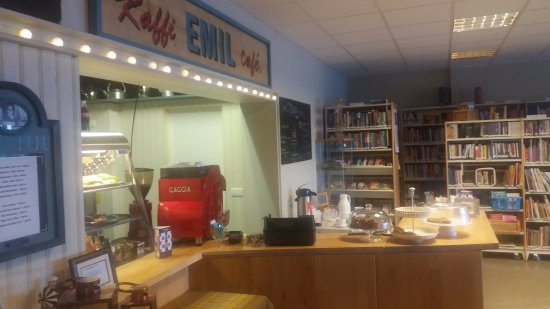 Grundarfjorour, Islandia: Cafe area
