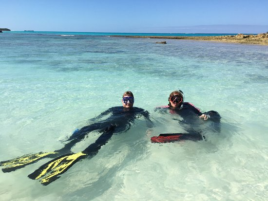 Capt. Kid & Son Charters: Just relaxing after snorkeling