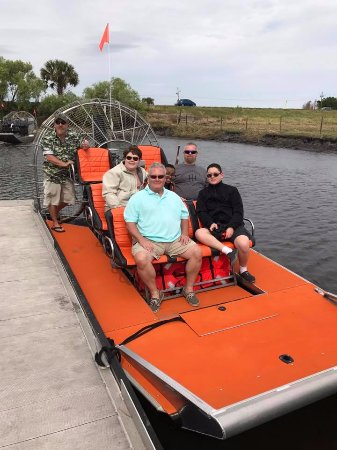 Capt Duke's Airboat Rides: Getting ready for an awesome airboat ride!