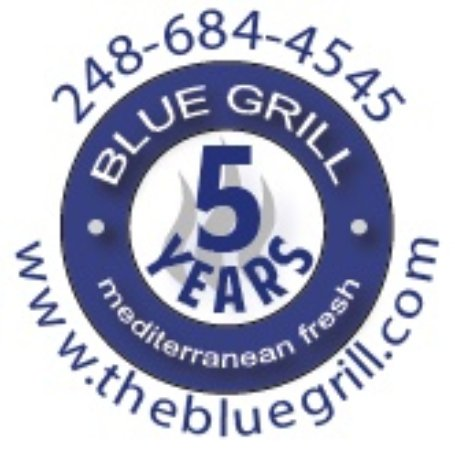 5 years BLUE GRILL restaurant in Milford anniversary!