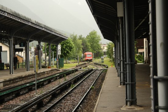 Mont-Blanc Express: In Chamonix, the train is coming