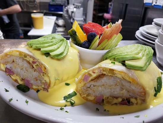 Auburn, CA: Breakfast Burrito with Hollandaise