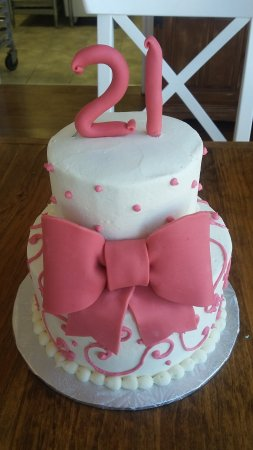 Bakery And Teahouse 21st Birthday Cake