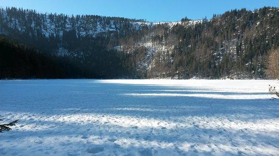 Zelezna Ruda, República Checa: Czerno Jezero auf dem Weg zum Wasserfall