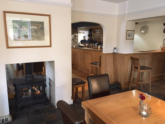 Wantage, UK: The 'tap room' with woodburner