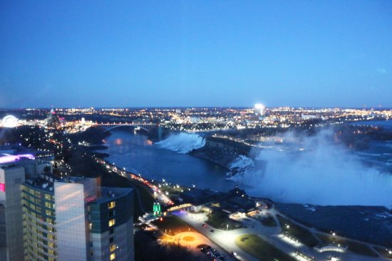 Niagara Falls Marriott on the Falls: view from suite on 31st floor