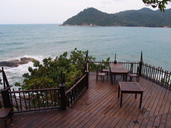 Panviman Resort - Koh Pha Ngan: Blick vom Pool Restaurant