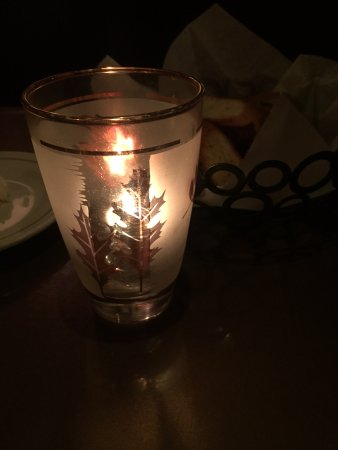 Stanton, CA: Retro glass as candle holder
