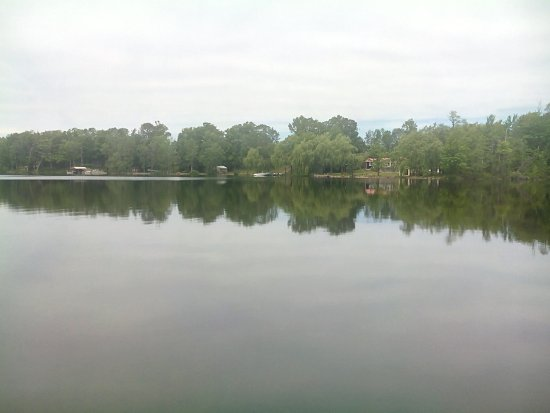 Allenford, Canadá: view of the lake from the deck