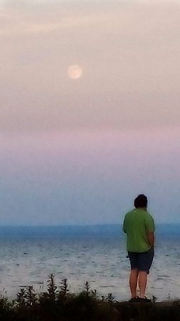 Watching the moon rise- Crystal Beach boat launch