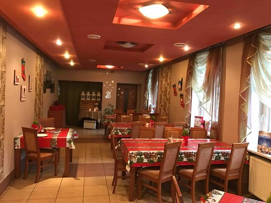 Raciborz, Polandia: mała sala restauracyjna