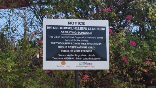 Two Sisters Cave: Nur mit vorheriger Reservation ab 50 Personen