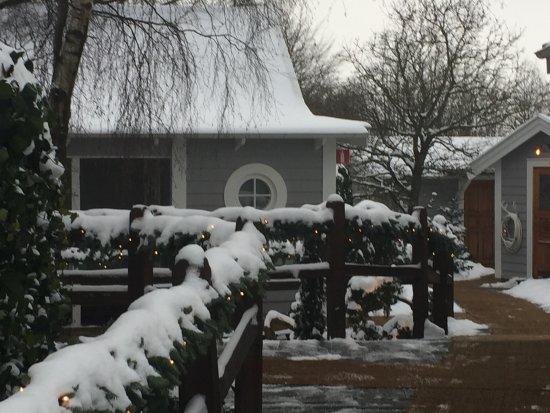 The Lodge: En bild av stugområdet.. supermysigt