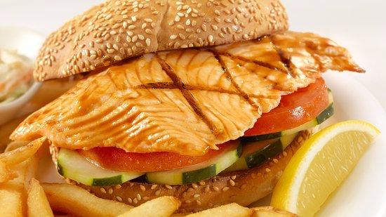 Vernon, Canada: Salmon Fillet Sandwich