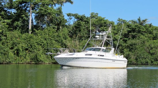 Hopkins, Belize: 40' Boat with 15' Wide Beam, kitchen and bathroom for comfort
