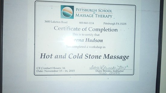 Washington, Pennsylvanie : Hot/Cold Stone Massage Certification