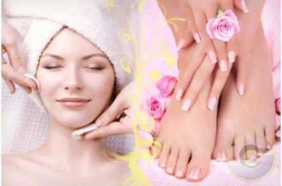 Facial and pedicure spa
