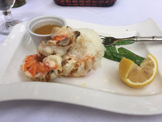 The Regent Grand: Coco bistro - grilled lobster over jasmine rice with snow pea pods
