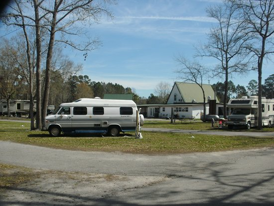 Golden Isles RV Park: Site #11. Office in background.