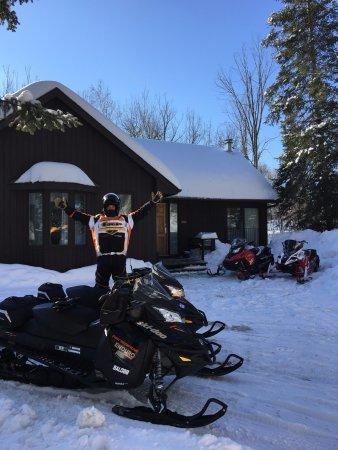 Haliburton, Canada: Park sleds at your door!