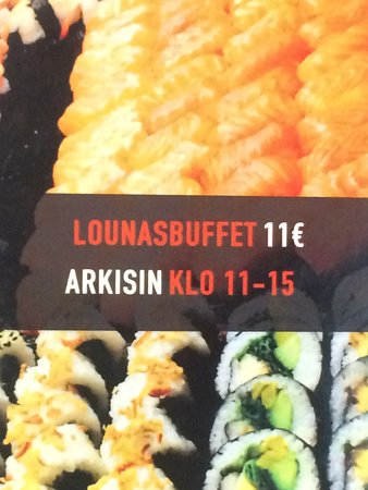 Pori, Finlandia: Sakura Sushi & China Wok   opening hours and price