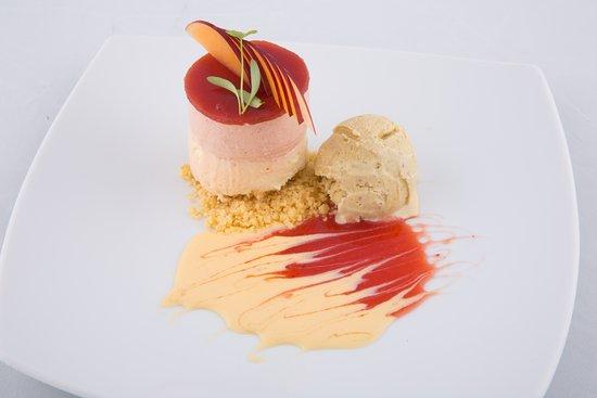 Liverpool, Australia: Layered Plum n Vanilla Cheesecake
